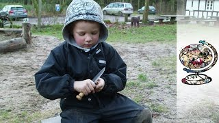 Deense kleuterschool in het bos