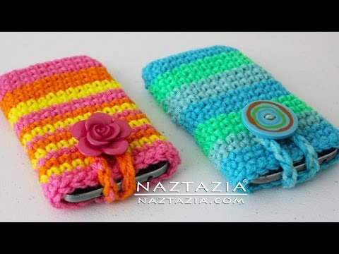 How To Crochet Easy Mobile Cell Phone Pouch Case Cover Holder - For IPhone IPod Samsung Android