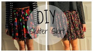 DIY Skater Skirt (SIMPLE INSTRUCTIONS) - YouTube