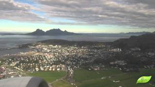 Bodo Norway  City pictures : Boeing 737 take-off with beautiful view of Bodø, Norway