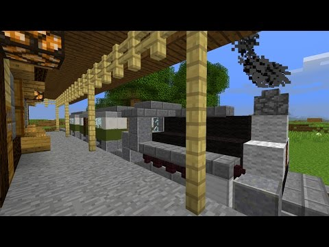 Funktionierender Zug in Minecraft Vanilla! – Minecraft Map