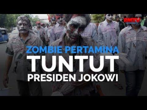 'Zombie' Pertamina Tuntut Presiden Jokowi