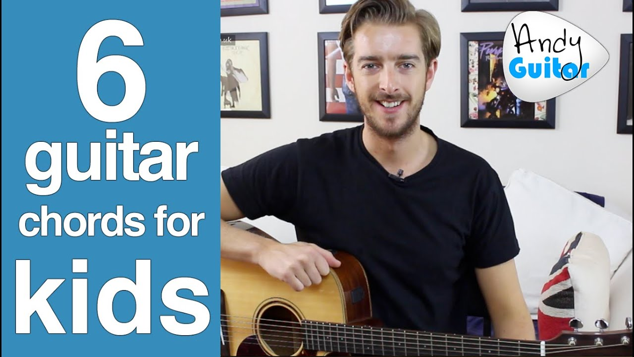 6 EASIER Guitar Chords for Kids or Total Beginners