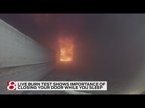 Firefighters use live burn test to show importance of closing your door
