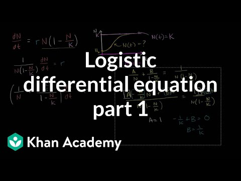 Logistic equations (Part 1) | Differential equations (video) | Khan ...
