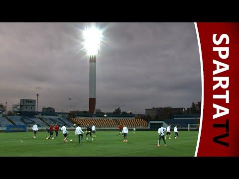 Pasienky - Reportáž z tréninku před utkáním základní skupiny Evropské ligy mezi Slovanem Bratislava a Spartou na stadionu Pasienky.
