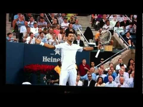 Best Tennis Rally Ever Nadal vs Djokovic US Open Final 2011 HD видео
