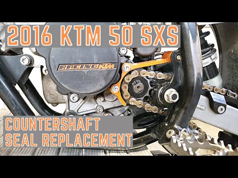 How to replace a countershaft seal on KTM 50 SX