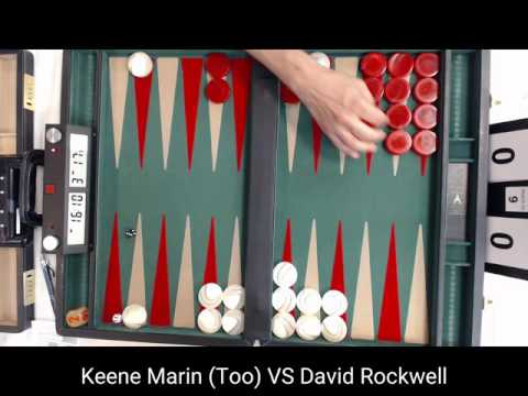 Keene Marin VS David Rockwell   Chicago Backgammon 2016 Open Main