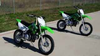 2. 2012 Kawasaki KLX110 and KLX110L Side By Side Comparison