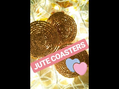Diy Jute Coasters in five minutes
