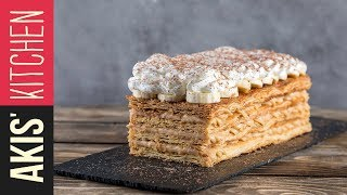 Banoffee mille feuille | Akis Petretzikis Kitchen by Akis Kitchen