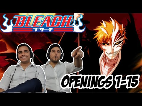 Bleach All Openings (1-15) - BROTHERS BLIND REACTION!