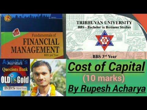 cost of capital bbs 3rd year    financial management