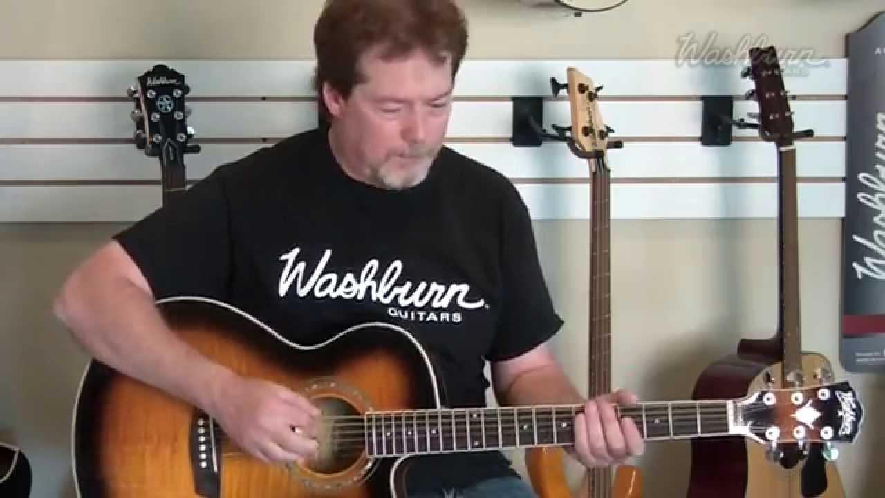 Demo – Washburn EA15ATB, EA15ITB Acoustic/Electric Guitar