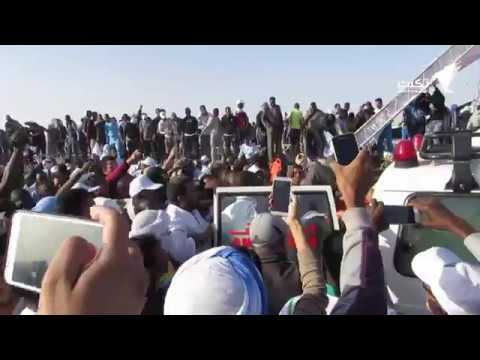 بالفيديو.. لحظة سقوط المنصة على الوزير ولد كمبو