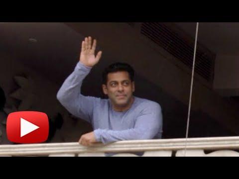 Salman Khan WISHES Fans Eid Mubarak, Waves From Ho