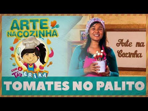 TOMATES NO PALITO | Arte na Cozinha com a Tia Érika