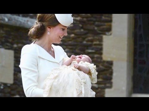 The royal baby made her second public appearance as her family made their way to her christening at the Church of St. Mary Magdalene.