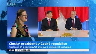 Čínský prezident v České republice