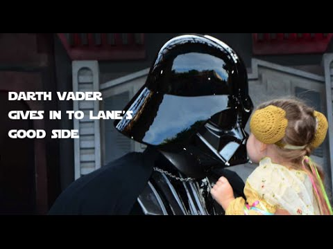 Darth Vader Can't Resist Little Girl's Cuteness