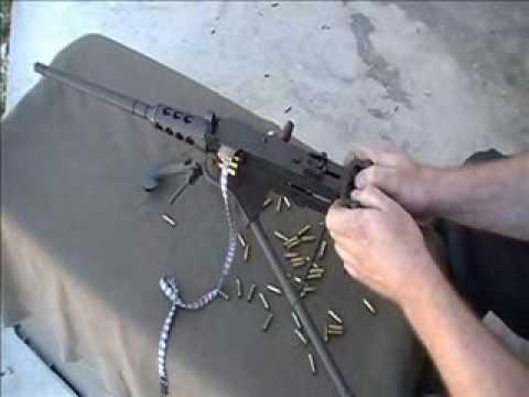 miniature machinegun M2HB 17HMR rimfire beltfed by Lakeside Machine