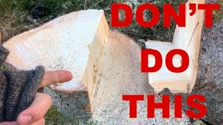 Video NEVER Do This When Cutting Down A Tree!! MP3, 3GP, MP4, WEBM, AVI, FLV September 2019