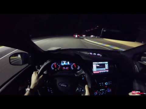 Session de nuit pour la Ford Focus RS à Le Mans Classic 2016