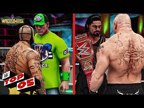 WWE 2K18 Wrestlemania 34 - Top 5 Matches Early Predictions!