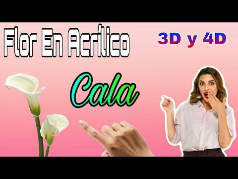 Flores 3D en acrilico (uñas acrilicas) uñas diseñadas #nails