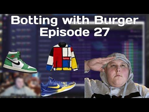 Botting with Burger Ep. 27 | Jordan 1 Lucky Green, Kobe 5 Protro, Supreme Colorblock Fleece
