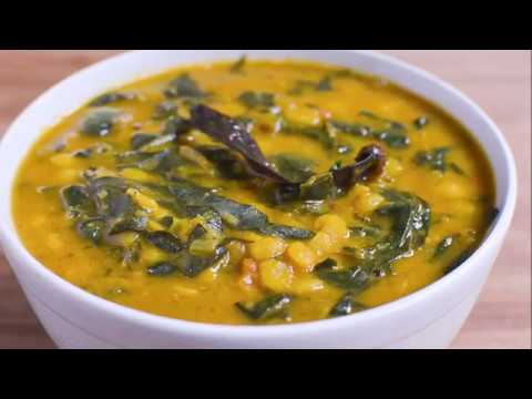 YELLOW SPLIT PIGEON PEAS AND SPINACH CURRY / DAL PALAK RECIPE / VEGAN RECIPE