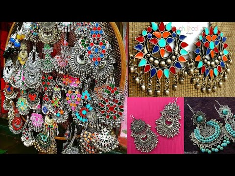 Silver beautiful jhumka earrings design ideas for Kurta/modern earrings design ideas