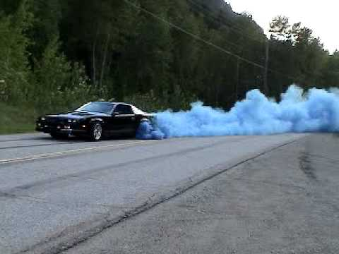 Blue Rolling Burnout 1988 IROC