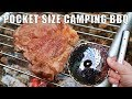 Pocket BBQ and Sirloin Steak in the woods