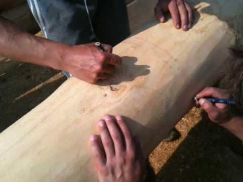 Ocrtavanje trupca prije izrezivanja