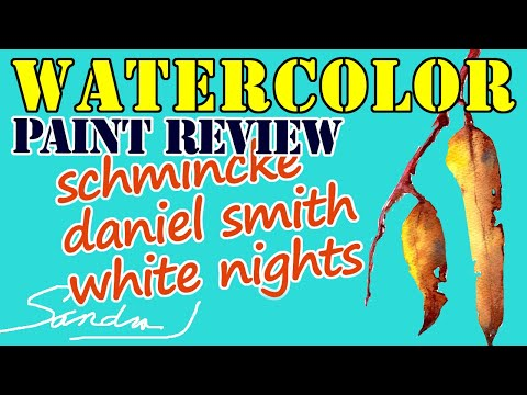 Watercolor Paint Comparison - Schmincke, Daniel Smith and White Nights Extra Fine with Sandra J