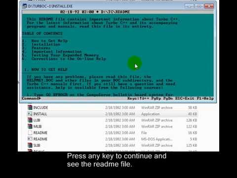 how to set turbo c path in windows