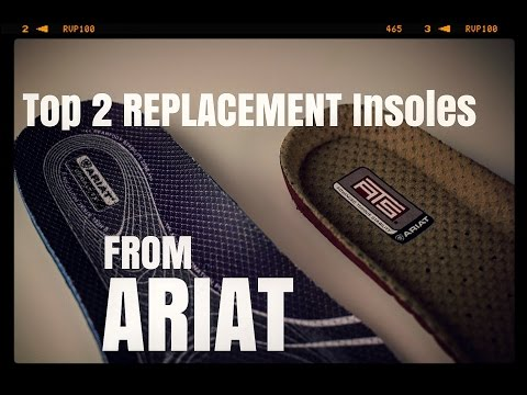 Top 2 Replacement work insoles from ARIAT [ The Boot Guy Reviews ]