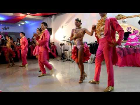 bailes de xv años - 15 Años Daniela Alvarez Echeverry - Show de Baile acompañada de bailarines profesionales de salsa de la ciudad de Cali.