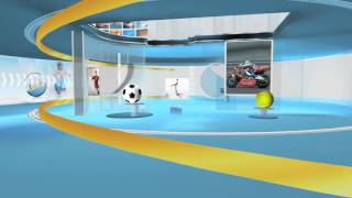 Set design  Virtual studio sports a2