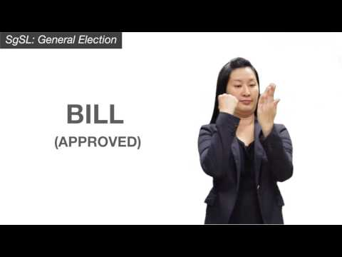 Image of the video: Election Vocabulary in Singapore Sign Language