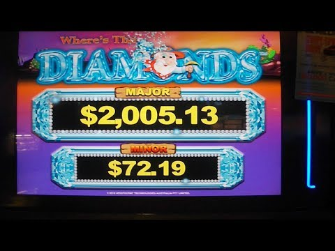 Where's The Diamonds NEW SLOT MACHINE BIG WIN Bonus Spins Free Games