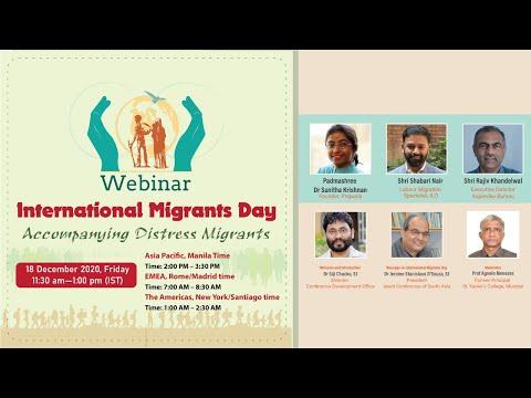 Webinar - International Migrants Day (Accompanying Distress Migrants)