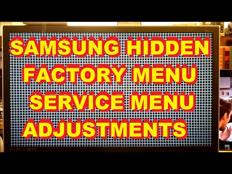 Samsung HLR Series DLP Service Menu Adjustments After Color Wheel Replacement 4266 5067 5657 6167