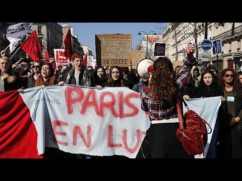 Γαλλία: Φοιτητικές διαδηλώσεις κατά της εργασιακής μεταρρύθμισης
