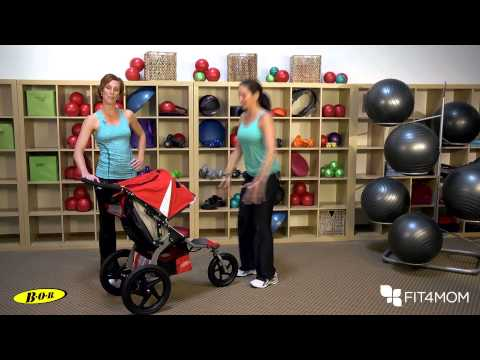 Stroller Squat with Variations - Stroller Strides