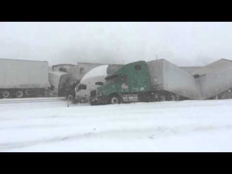 New video emerges, shows I-80 crash as it happens! Slow Down In The Snow!