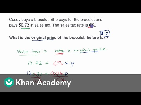 Percent Word Problems Tax And Discount Video Khan Academy