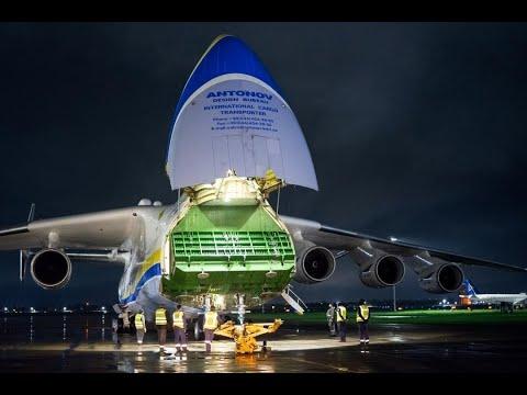 Посадку в Алматы крупнейшего в мире самолета показал на видео пилот